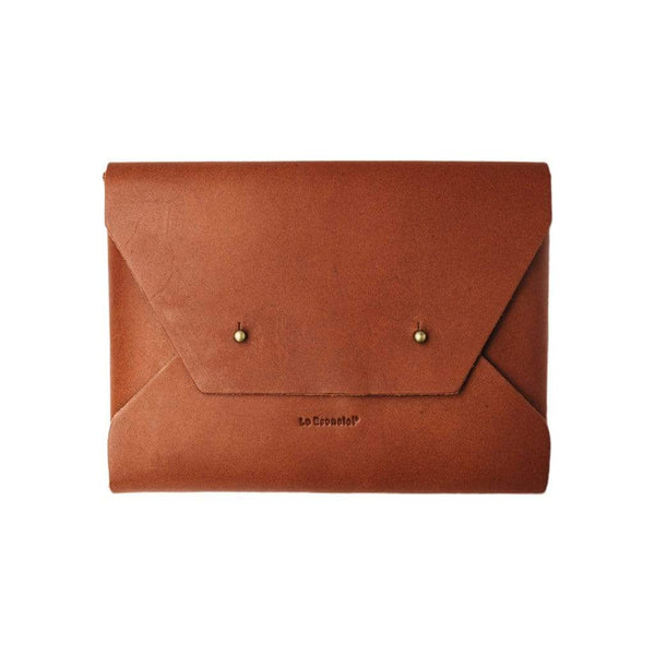 Lo Esencial Laptop Cases & Sleeves Clásico Handcrafted Seamless Leather Clutch