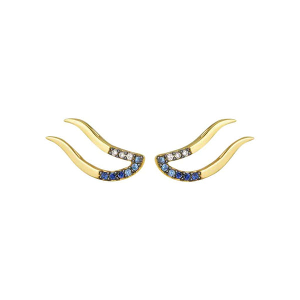 Mel Bandeira Earrings Hart Sapphire Earrings