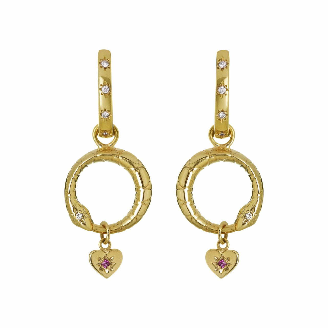 Mel Bandeira Earrings Ouroboros Detachable Earrings