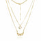 Mel Bandeira Necklaces Crescent Moon Double Layered Necklace