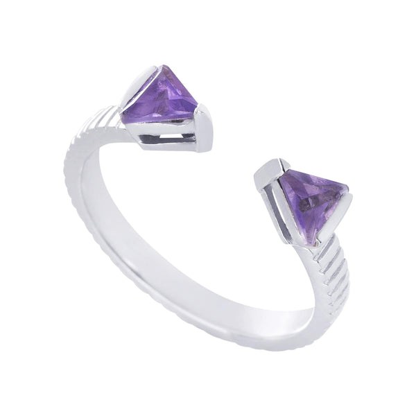 Mel Bandeira Rings Arrow Ring with Amethyst