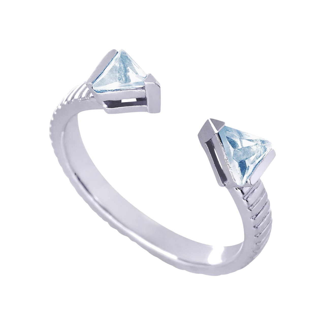 Mel Bandeira Rings Arrow Ring with Blue Topaz