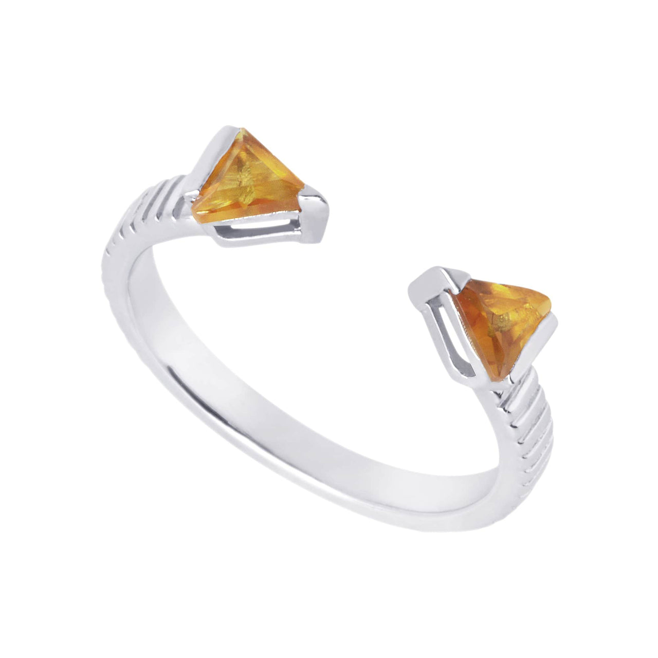 Mel Bandeira Rings Arrow Ring with Citrine