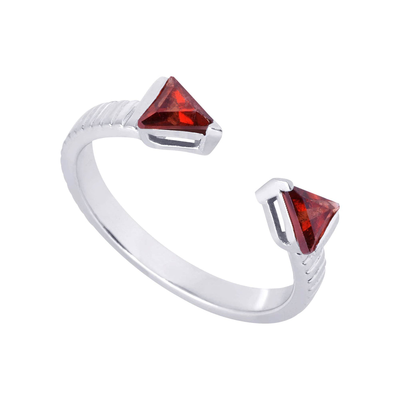 Mel Bandeira Rings Arrow Ring with Garnet