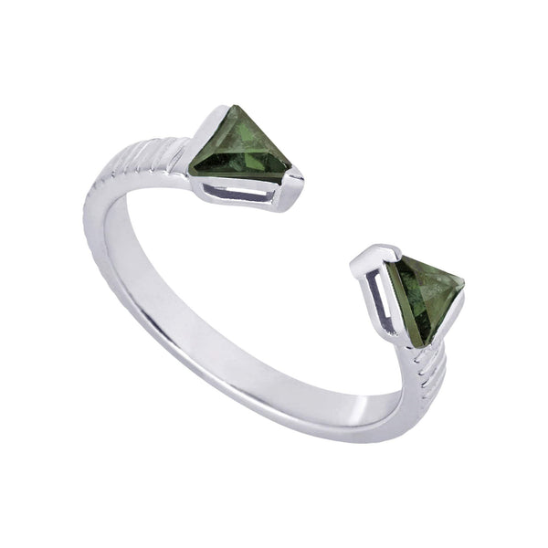 Mel Bandeira Rings Arrow Ring with Tourmaline