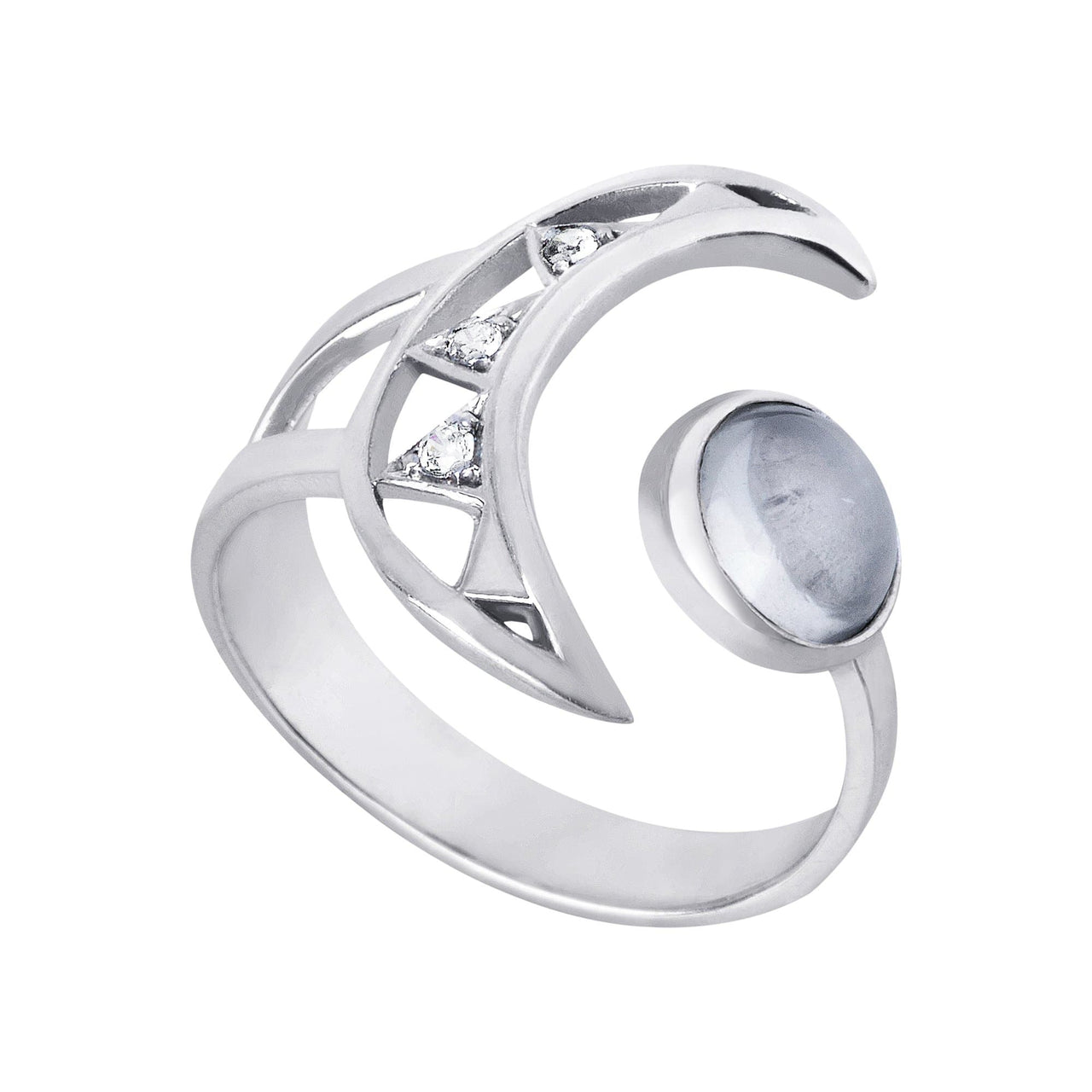 Mel Bandeira Rings Crescent Moon Sterling Silver Ring
