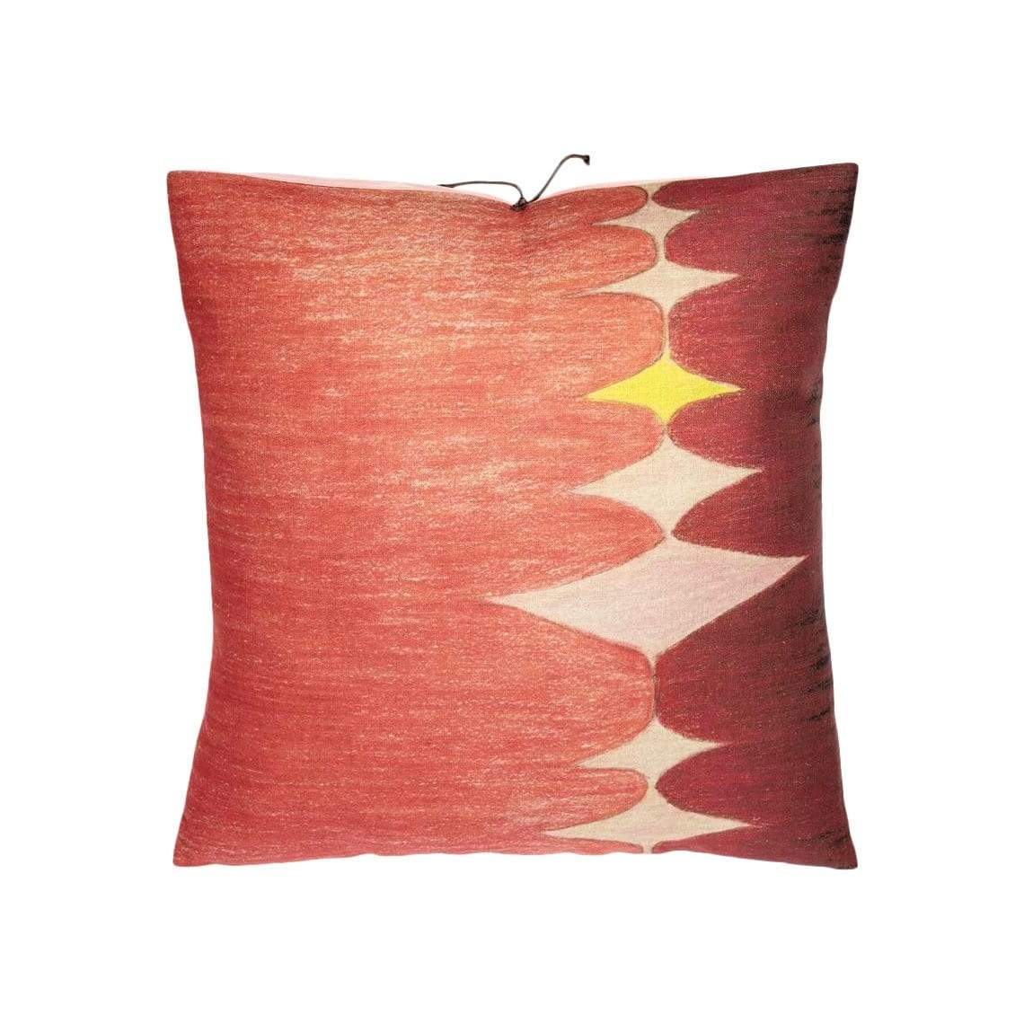 Michele Varian Cushions & Throws Default Printed Linen Pillow Multi Spear Pink