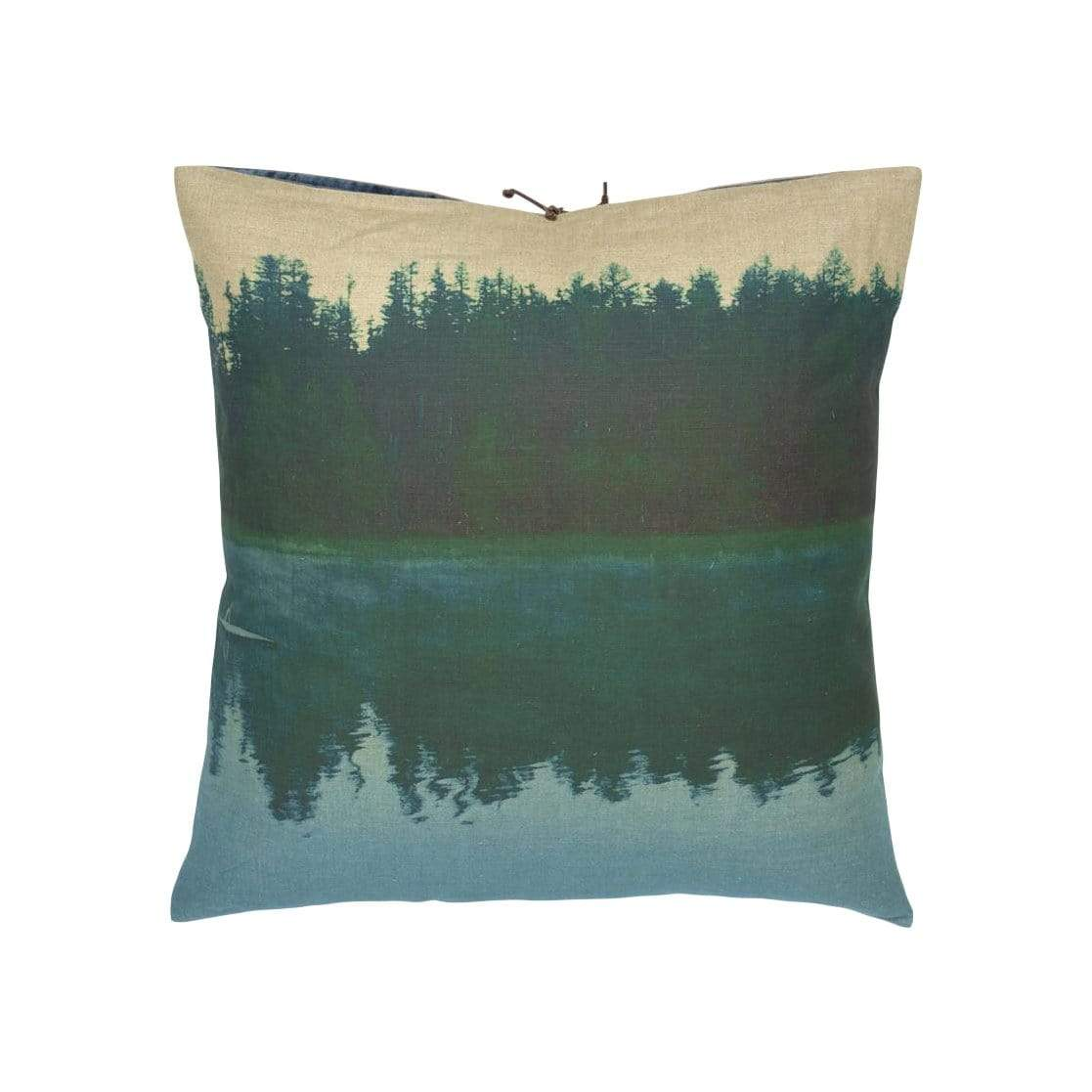 Michele Varian Cushions & Throws Default Printed Linen Pillow Pine Reflection Green