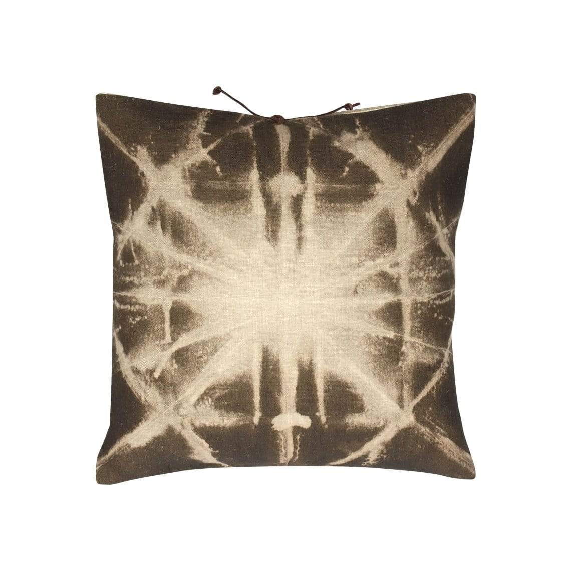 Michele Varian Cushions & Throws Default Printed Linen Pillow Starburst Olive