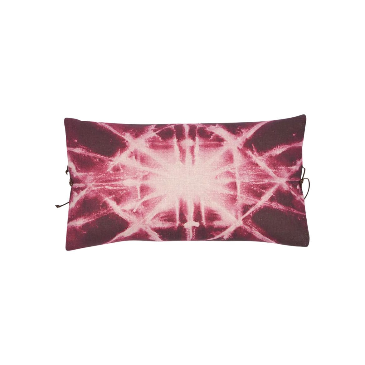Michele Varian Cushions & Throws Default Printed Linen Pillow Starburst Plum
