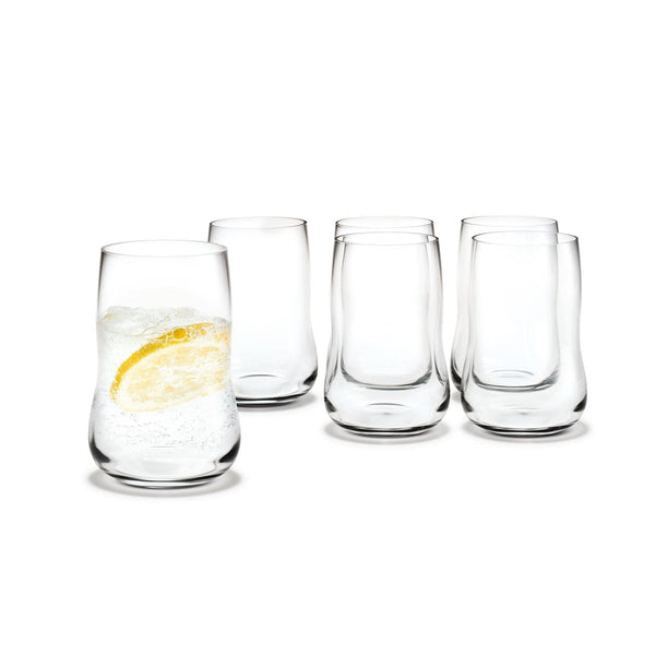 NORMODE Glassware Holmegaard Future Glass, 8.5 oz, 6 Pcs.
