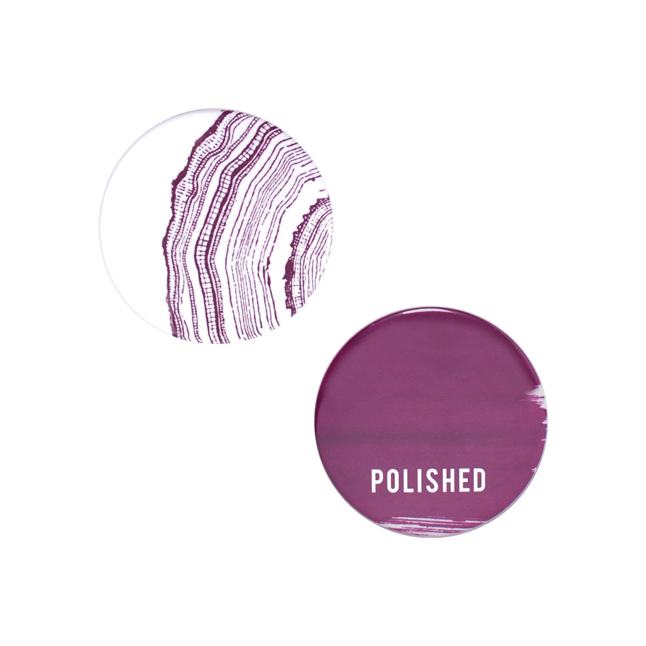 ODEME Beauty & Wellness Polished Button Mirror Set