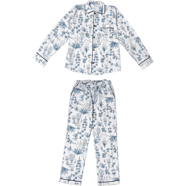 Phriya Sleepwear Men's Gray Circe's Garden Long Pajama Set