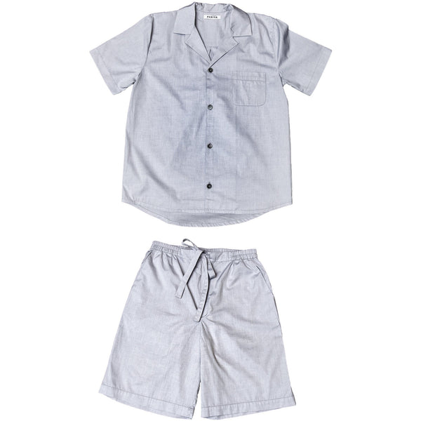 Phriya Sleepwear Men's Gray Classic Short Pajama Set