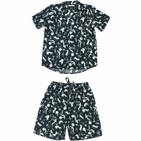 Phriya Sleepwear Women's Navy Blue Odyssey Short Pajama Set