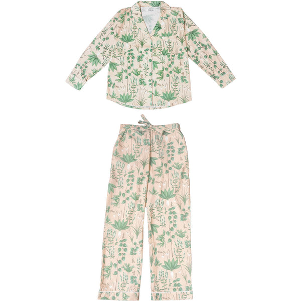 Phriya Sleepwear Women's Pink Circe's Garden Long Pajama Set