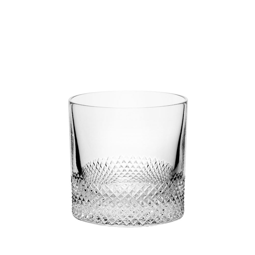 Richard Brendon Double Old Fashioned Diamond Cut Crystal Double Old Fashioned