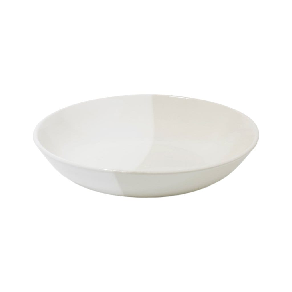 Richard Brendon Tabletop White Dip Creamware Shallow Serving Bowl