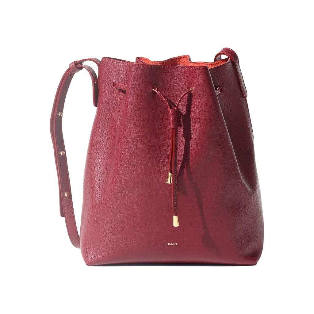 RUSKIN Shoulder, Crossbody & Belt Bags Bordeaux Nara Medium Bucket Bag