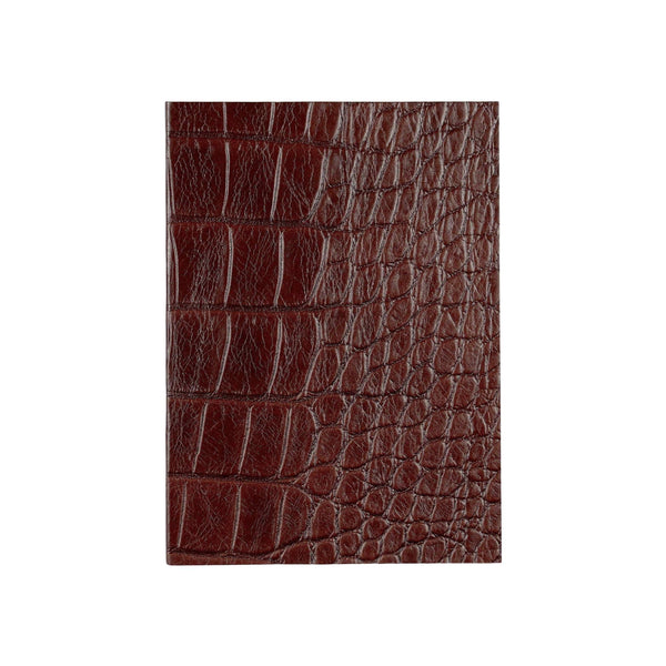 Sarah Haran Notebook Brown Moc Croc Leather Notebook
