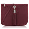 Sarah Haran Shoulder, Crossbody & Belt Bags Burgundy / Silver Ivy Mini Bag - Leather Strap