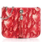 Sarah Haran Shoulder, Crossbody & Belt Bags Red Snake Print / Silver Ivy Mini Bag - Textured