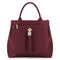 Sarah Haran Tote Bags Burgundy / Gold Dahlia 2-in-1 Leather Tote