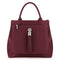 Sarah Haran Tote Bags Burgundy / Silver Dahlia 2-in-1 Leather Tote
