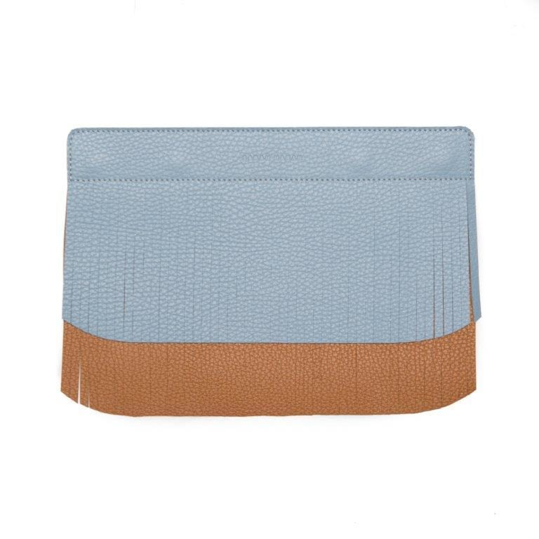 Sarah Haran Wallets, Pouches & Accessories Duck Egg - Tan Decorative Fringe Strip