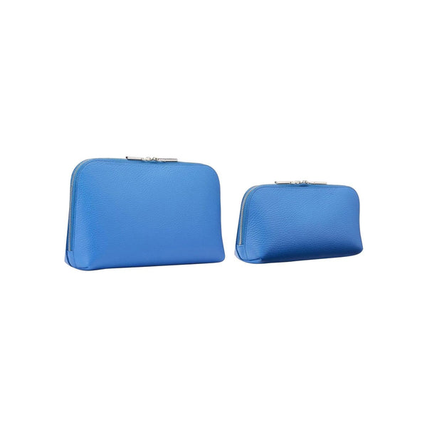 Sarah Haran Wallets, Pouches & Accessories Royal Blue / Silver Cosmetic Bag Set