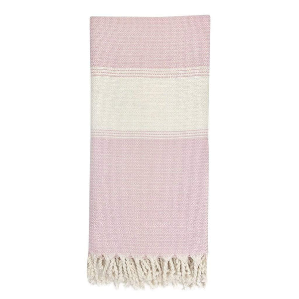 Slate & Salt Bath & Beach Ballet Pink Anatolia Stripe Turkish Towel