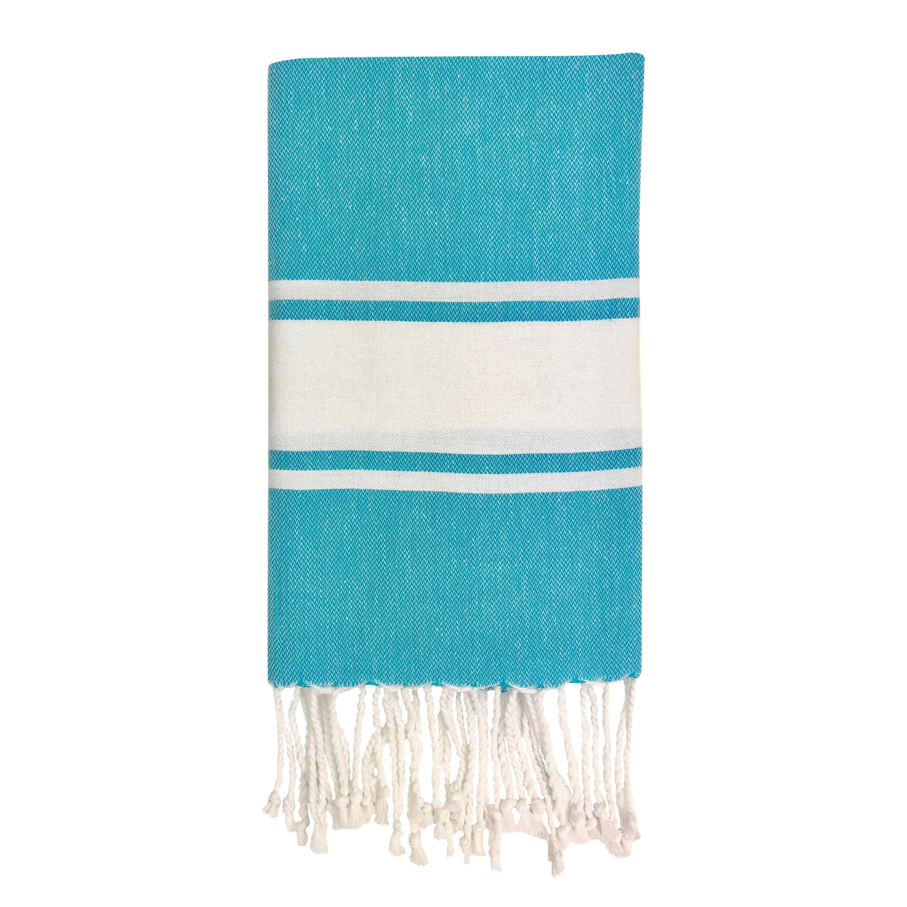 Slate & Salt Bath & Beach Blue Turquoise Essential Stripe Turkish Hand Towel