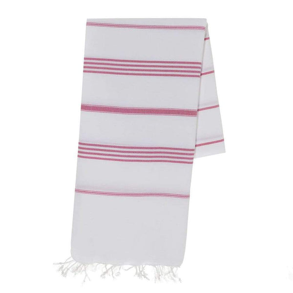 Slate & Salt Bath & Beach Classic Rose Stripe Turkish Towel