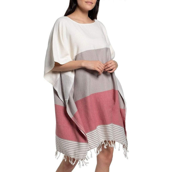 Slate & Salt Bath & Beach Color Block Rose Turkish Tunic