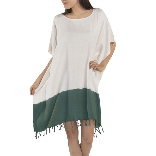 Slate & Salt Bath & Beach Dip Dye Forest Green Turkish Tunic
