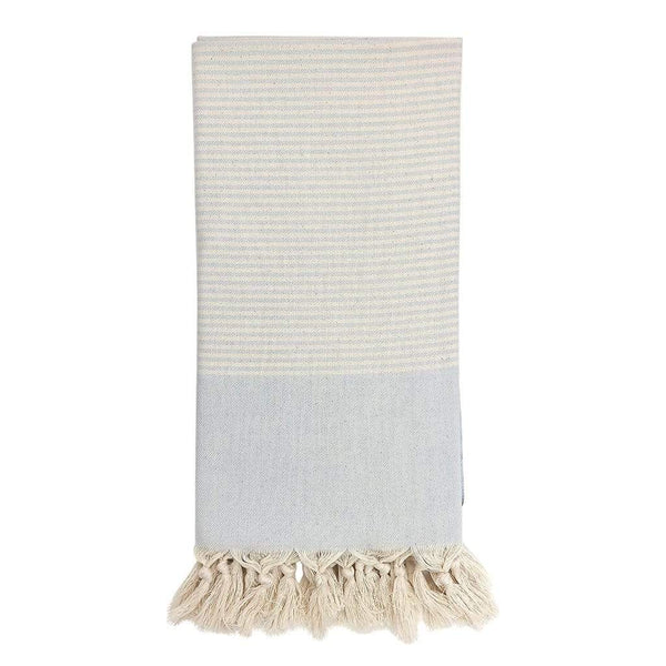 Slate & Salt Bath & Beach Ice Blue Essential Stripe Turkish Towel