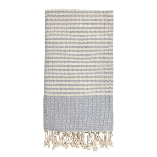 Slate & Salt Bath & Beach Lavender Textured Stripe Turkish Towel