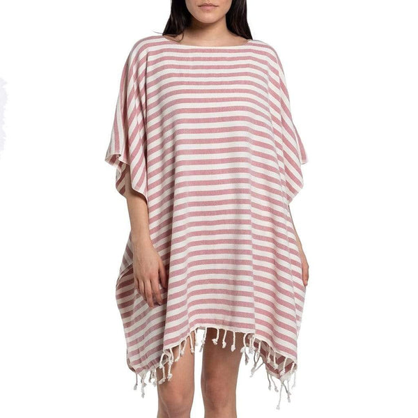 Slate & Salt Bath & Beach Nautical Stripe Rose Turkish Tunic