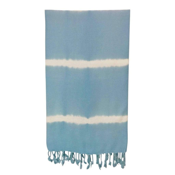 Slate & Salt Bath & Beach Tie Dye Sky Blue Turkish Beach Towel