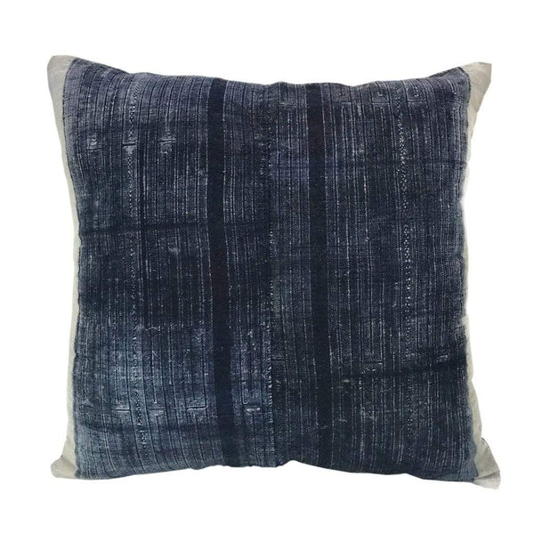 Slate & Salt Cushions & Throws Vintage Batik Indigo Pillow