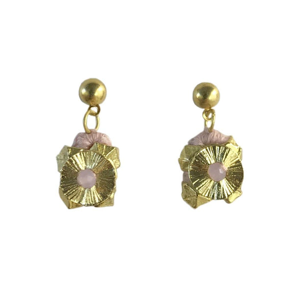 Slate & Salt Earrings Ballet Pink Keya Flower Earrings