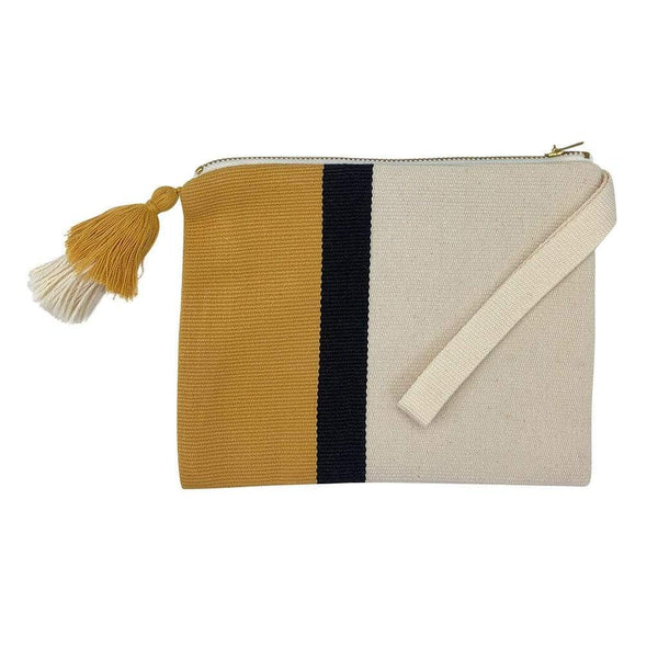 Slate & Salt Handbags & Clutches Handloom Stripe Cosmetic Bag