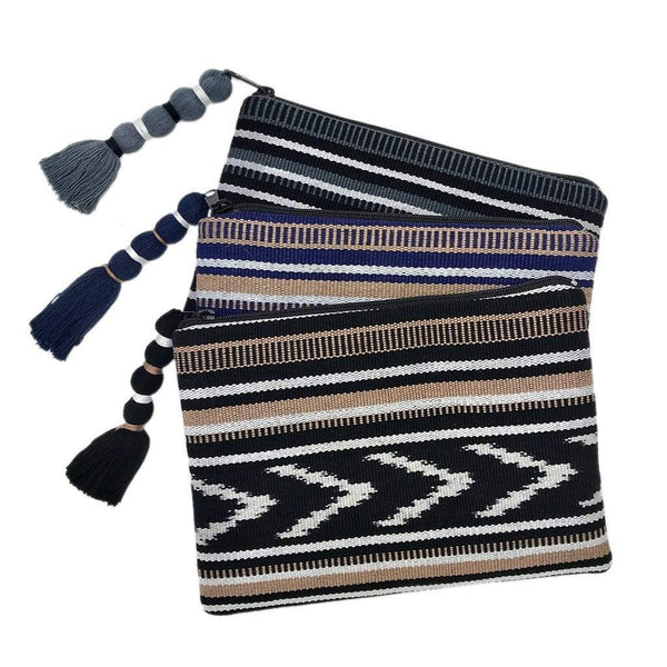 Slate & Salt Handbags & Clutches Ikat Backstrap Clutch