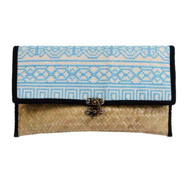 Slate & Salt Handbags & Clutches Rattan Hmong Clutch