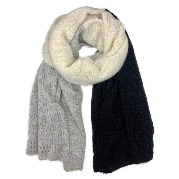 Slate & Salt Hats, Gloves & Scarves Color Block Alpaca Wrap Scarf
