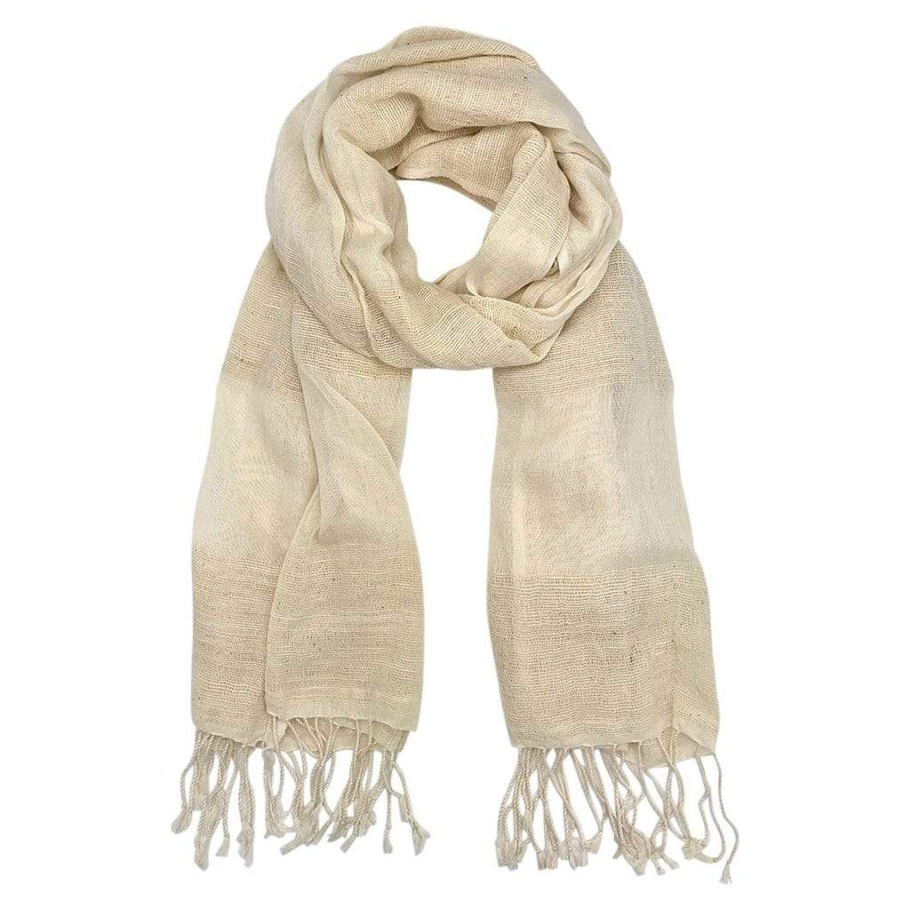 Slate & Salt Hats, Gloves & Scarves Cream Organic Cotton Gauze Scarf