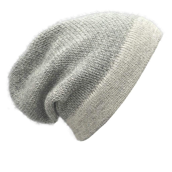 Slate & Salt Hats, Gloves & Scarves Gray Interwoven Alpaca Beanie