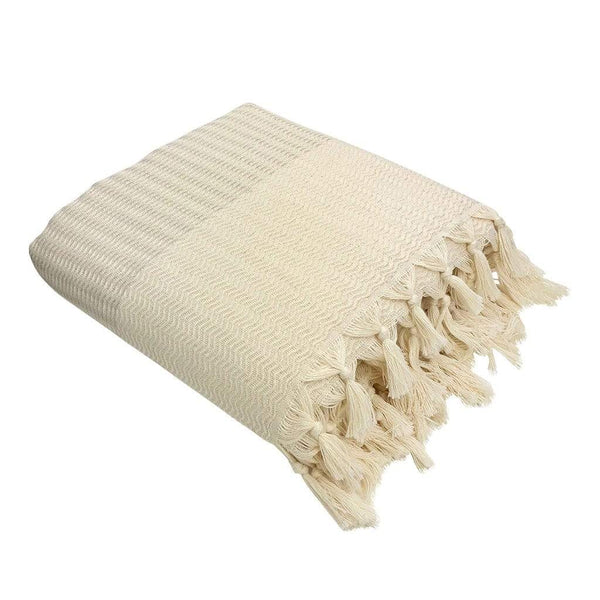 Slate & Salt Home Decor Sand Plush Wavy Turkish Throw