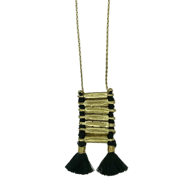 Slate & Salt Necklaces Black Anika Temple Necklace