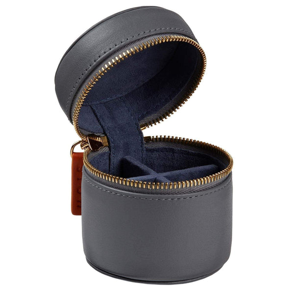 STOW Jewelry Cases Quiet Shade & Blue Jeans / Blind Sanderson Leather Stud Box - Personalized